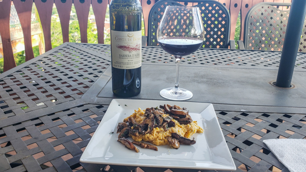 Pairing a Barbera Wine with Polenta with Tallegio, Mushroom and Truffle