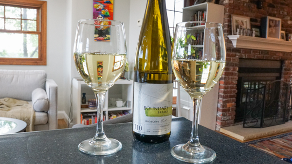 Glasses of Boundary Breaks #110 Grand Reserve Riesling