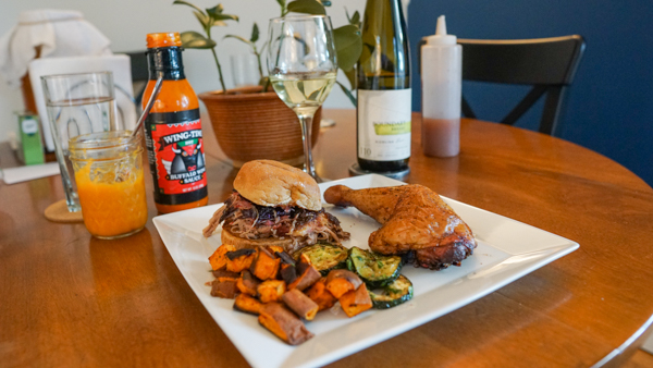 Finger Lakes Riesling with Barbecue