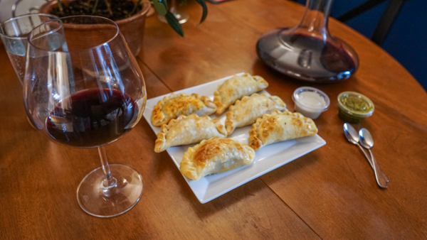 Empanadas with a Spanish Red Blend from Priorat