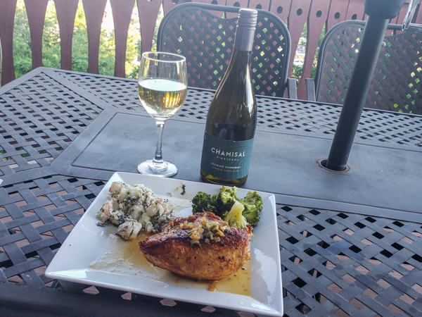 Pairing Unoaked Chardonnay with Pan Roasted Chicken