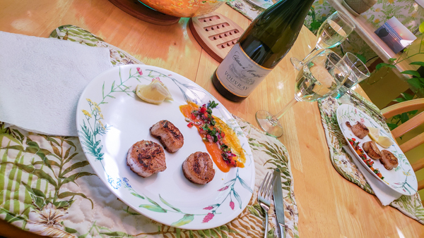 This semi-sweet Vouvray pairs perfectly with sweet and spicy sauces.