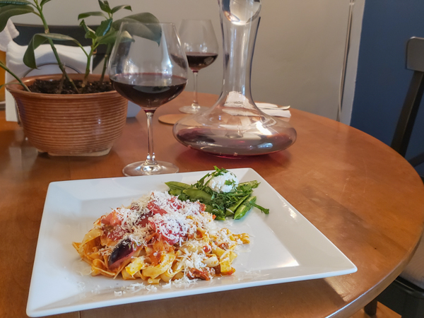 Aglianico Wine with Pasta