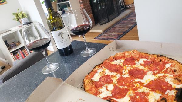 Pizza and Cabernet Sauvignon