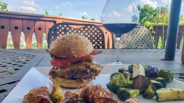 Homemade Burger with Australian Cab