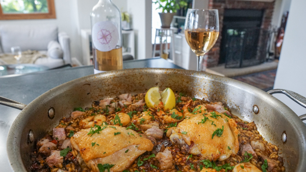 French Rose and Paella Combo