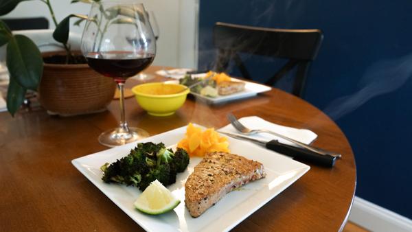 Frappato with a Tuna Steak