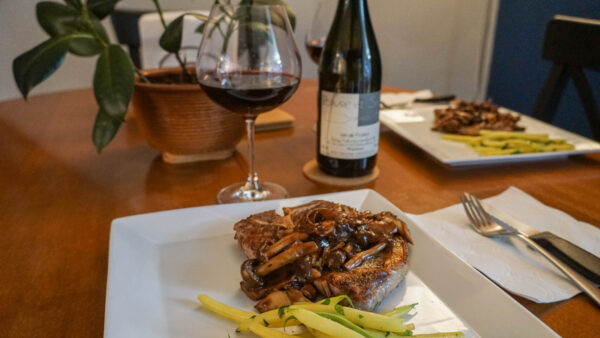 Pork Chops Paired with Pineau d'Aunis