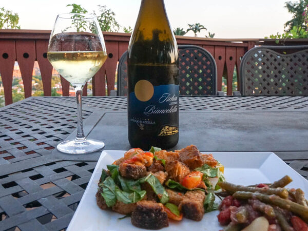 Panzanella and Tomato Bean Salad Pairing with Wine