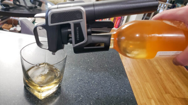Pouring mead with a coravin