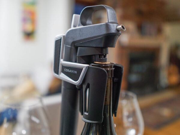 Coravin inserted into a bottle