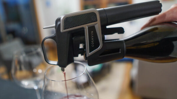 Give a puff of gas and pour your wine through the Coravin