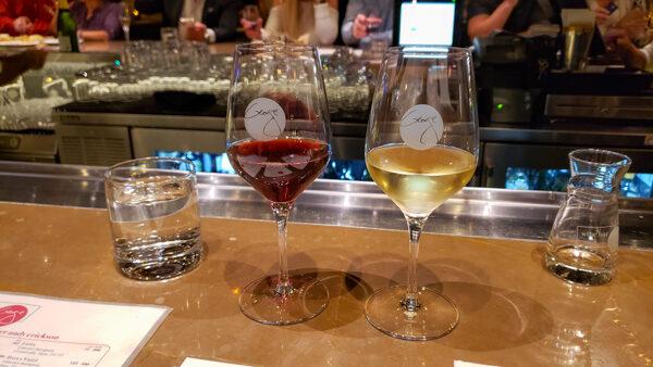 Wines at Wine Bar George at Disney Springs