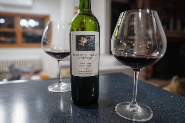 Burgundy Red Wine Glass