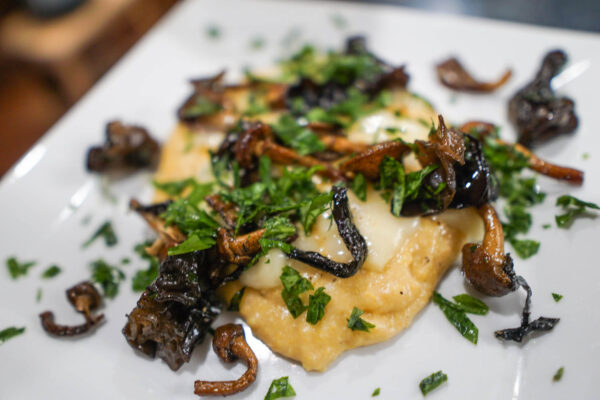 Pinot Noir Pairing - Polenta with Mushrooms