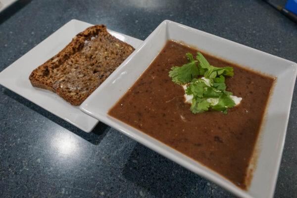 Tintilla de Rota Food Pairing - Black Bean Soup