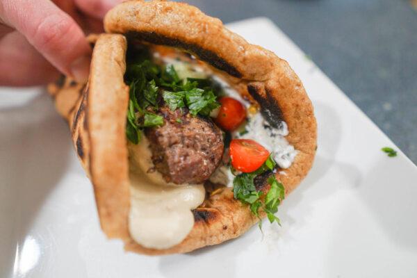 Middle Eastern Kebab Pita