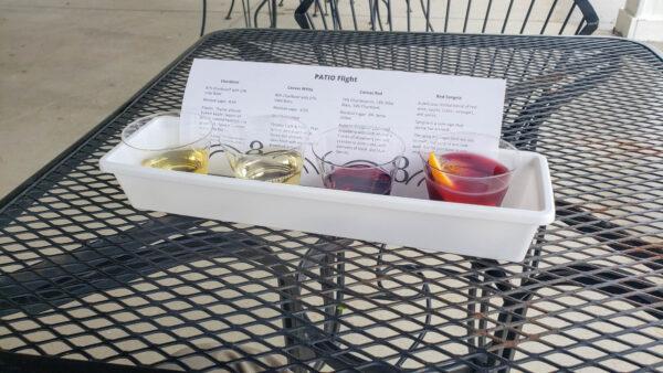 Wine Flight at 868 Estate Winery