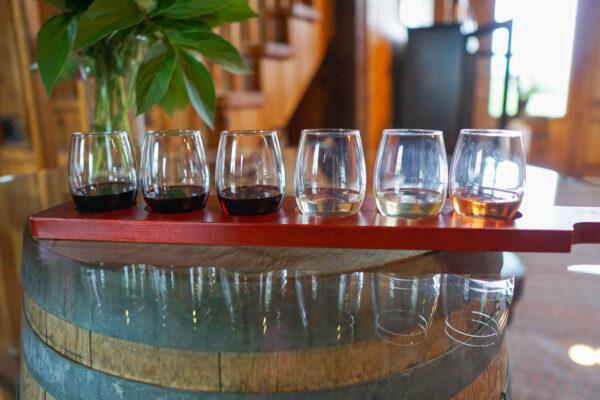 Wine Flight at Shenandoah Vineyards