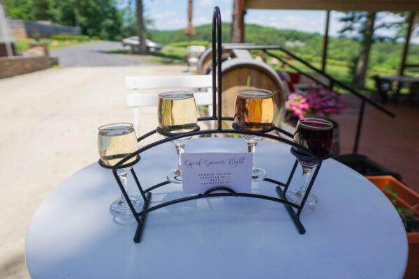 Wine Flight at Cave Ridge Vineyard