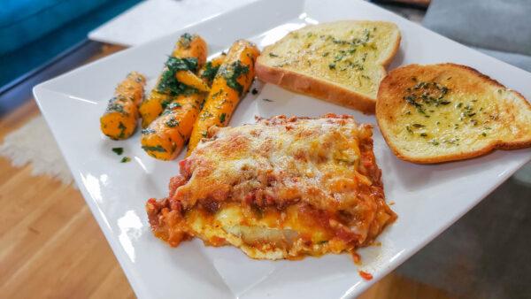 Armenian Red Wine Food Pairing - Zucchini Lasagna