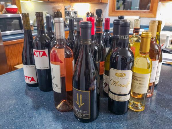 Bottles Survived After Traveling in a Wine Skin