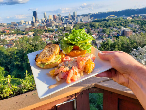 Food Pairing - King Salmon Burger and Grenache Rose