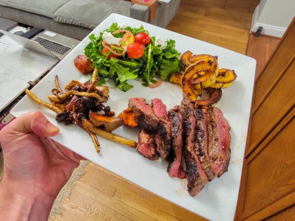 Pinotage Food Pairing - Steak and Squash